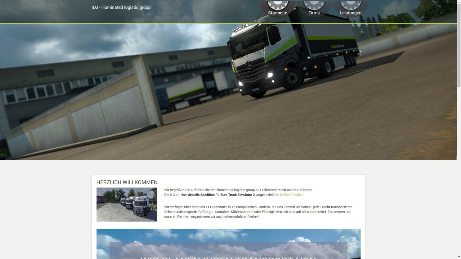 Vorschau der Webseite der illuminated logistic group